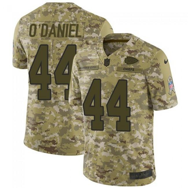 Nike Chiefs #44 Dorian O'Daniel Camo Men's Stitched NFL Limited 2018 Salute To Service Jersey