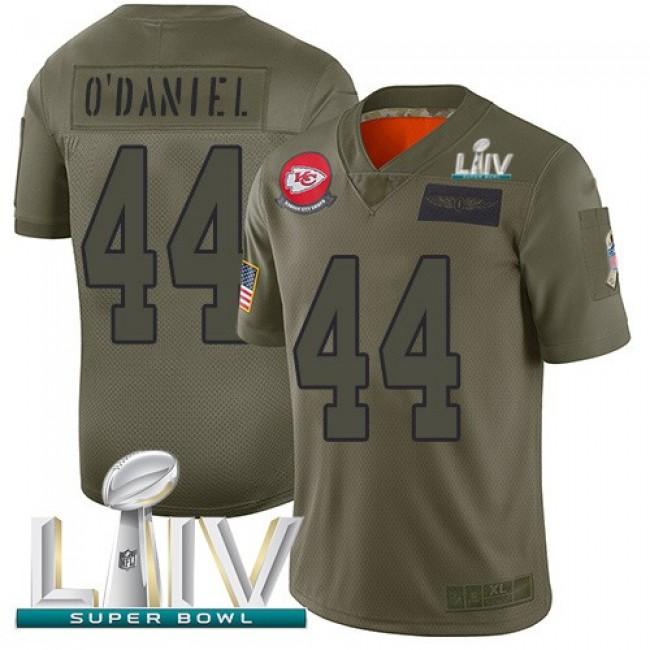 Nike Chiefs #44 Dorian O'Daniel Camo Super Bowl LIV 2020 Men's Stitched NFL Limited 2019 Salute To Service Jersey