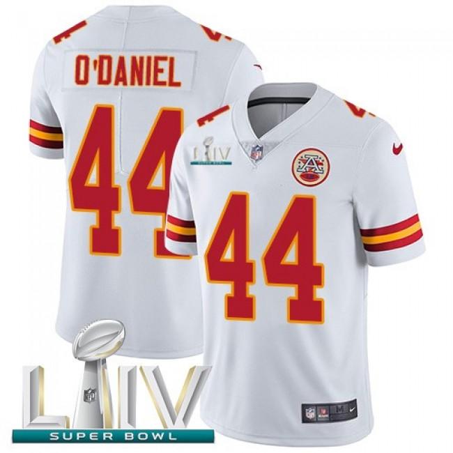 Nike Chiefs #44 Dorian O'Daniel White Super Bowl LIV 2020 Men's Stitched NFL Vapor Untouchable Limited Jersey