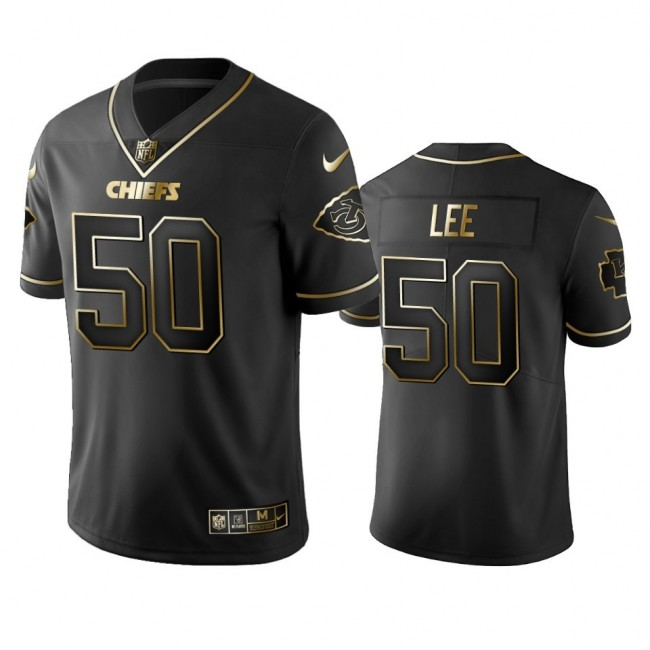 Nike Chiefs #50 Darron Lee Black Golden Limited Edition Stitched NFL Jersey