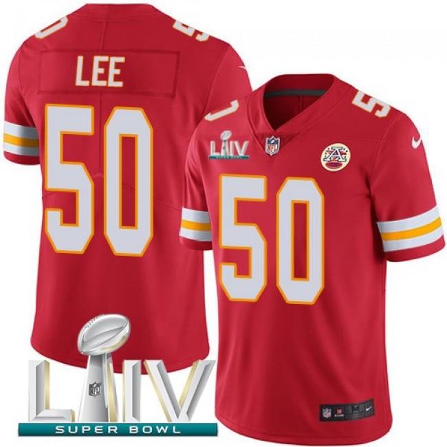 Nike Chiefs #50 Darron Lee Red Super Bowl LIV 2020 Team Color Men's Stitched NFL Vapor Untouchable Limited Jersey