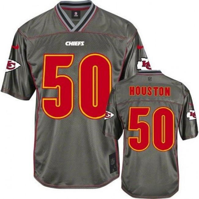 Kansas City Chiefs #50 Justin Houston Grey Youth Stitched NFL Elite Vapor Jersey