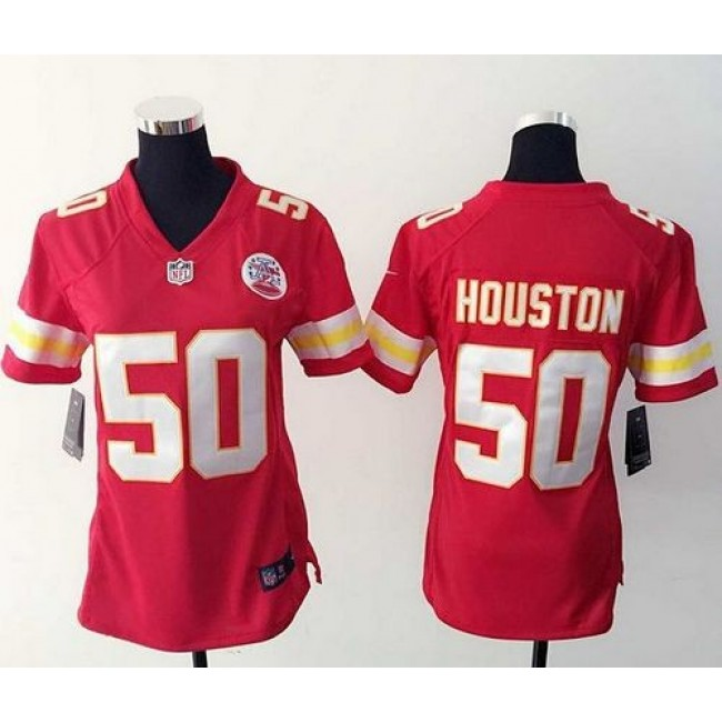 Women's Chiefs #50 Justin Houston Red Team Color Stitched NFL Elite Jersey