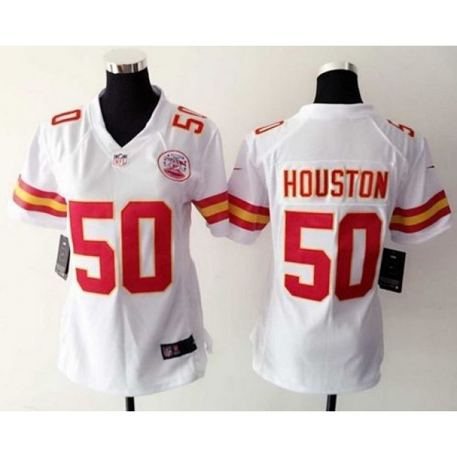 Women's Chiefs #50 Justin Houston White Stitched NFL Elite Jersey