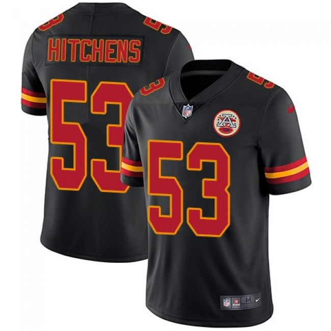Nike Chiefs #53 Anthony Hitchens Black Men's Stitched NFL Limited Rush Jersey