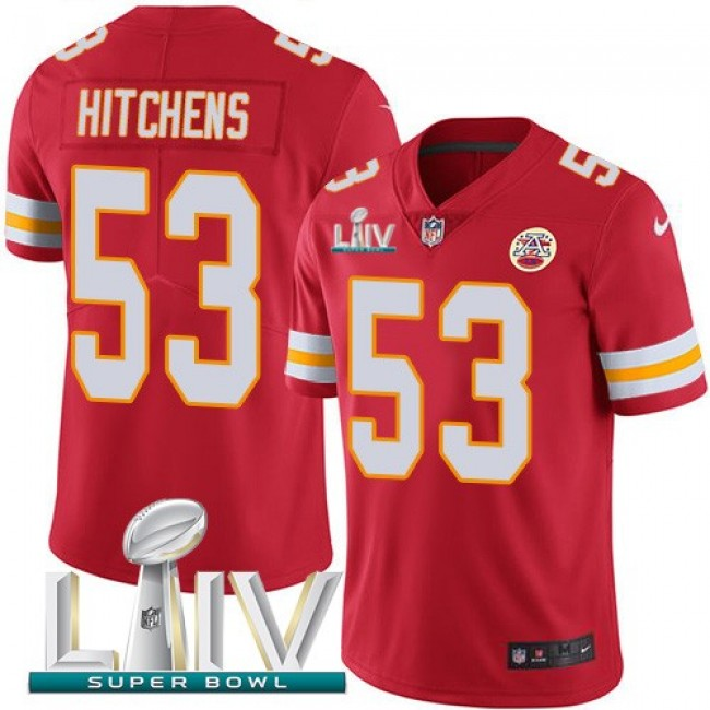 Nike Chiefs #53 Anthony Hitchens Red Super Bowl LIV 2020 Team Color Men's Stitched NFL Vapor Untouchable Limited Jersey