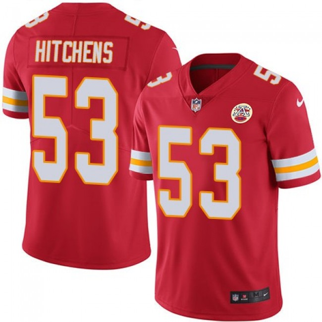 Nike Chiefs #53 Anthony Hitchens Red Team Color Men's Stitched NFL Vapor Untouchable Limited Jersey