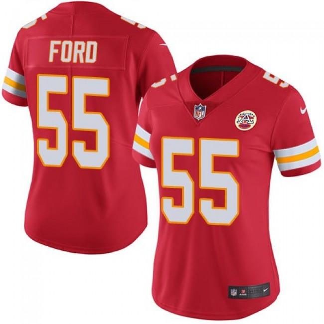 Women's Chiefs #55 Dee Ford Red Team Color Stitched NFL Vapor Untouchable Limited Jersey