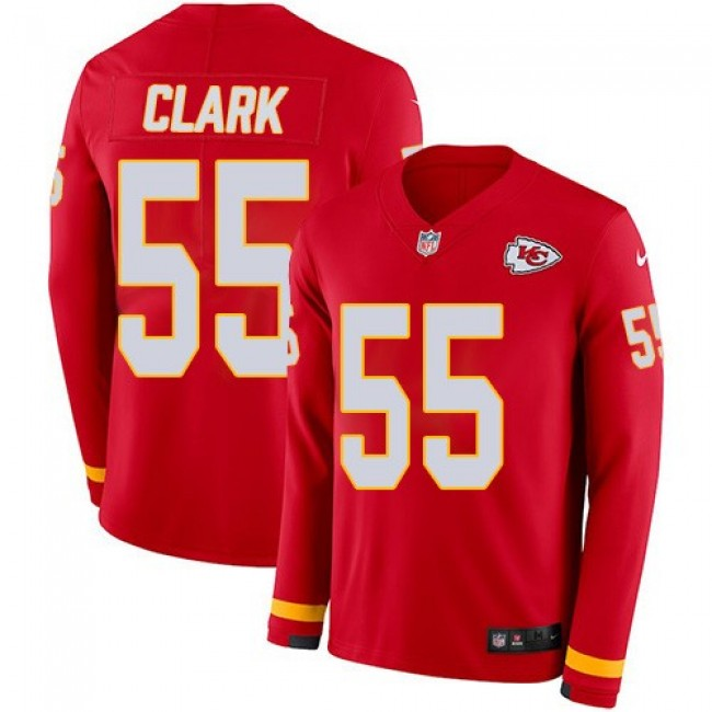 Nike Chiefs #55 Frank Clark Red Team Color Men's Stitched NFL Limited Therma Long Sleeve Jersey