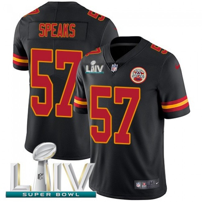 Nike Chiefs #57 Breeland Speaks Black Super Bowl LIV 2020 Men's Stitched NFL Limited Rush Jersey