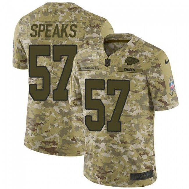 Nike Chiefs #57 Breeland Speaks Camo Men's Stitched NFL Limited 2018 Salute To Service Jersey