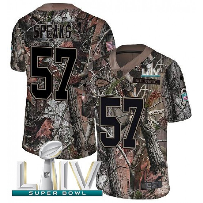 Nike Chiefs #57 Breeland Speaks Camo Super Bowl LIV 2020 Men's Stitched NFL Limited Rush Realtree Jersey