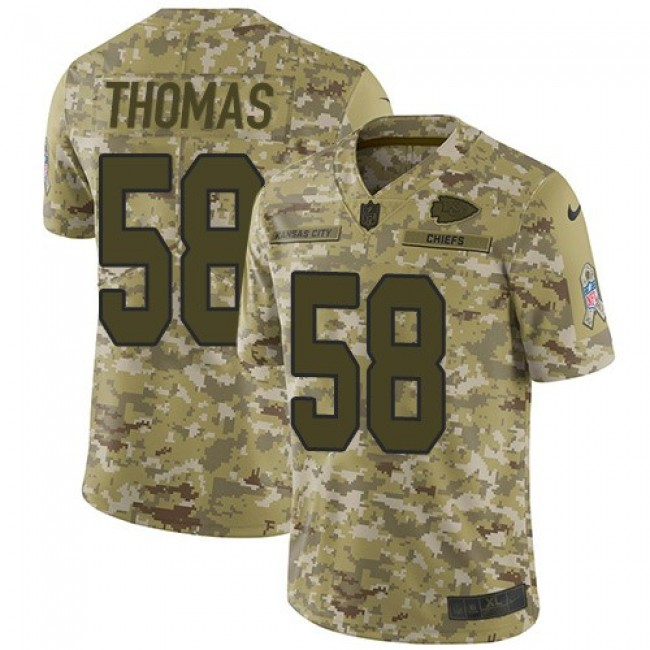 Nike Chiefs #58 Derrick Thomas Camo Men's Stitched NFL Limited 2018 Salute To Service Jersey