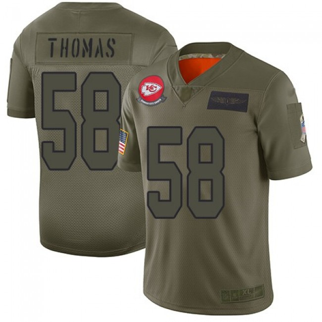 Nike Chiefs #58 Derrick Thomas Camo Men's Stitched NFL Limited 2019 Salute To Service Jersey