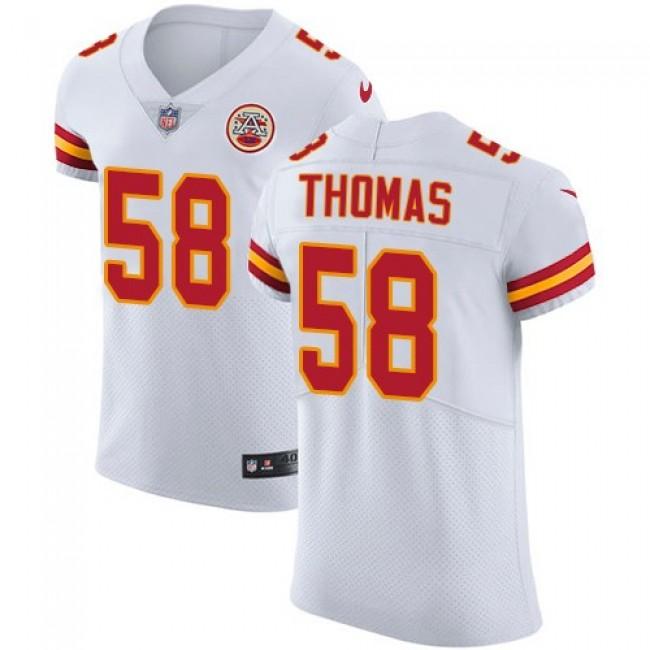 Nike Chiefs #58 Derrick Thomas White Men's Stitched NFL Vapor Untouchable Elite Jersey