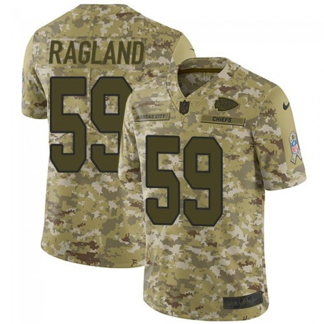 Nike Chiefs #59 Reggie Ragland Camo Men's Stitched NFL Limited 2018 Salute To Service Jersey