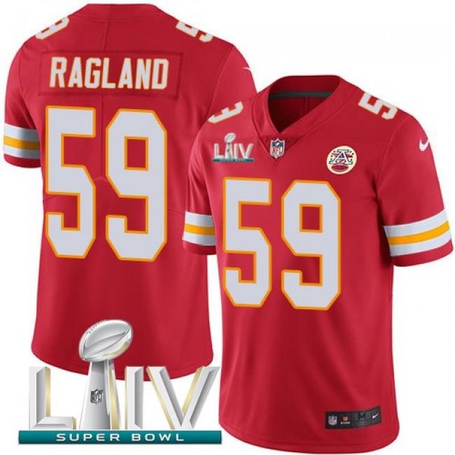 Nike Chiefs #59 Reggie Ragland Red Super Bowl LIV 2020 Team Color Men's Stitched NFL Vapor Untouchable Limited Jersey