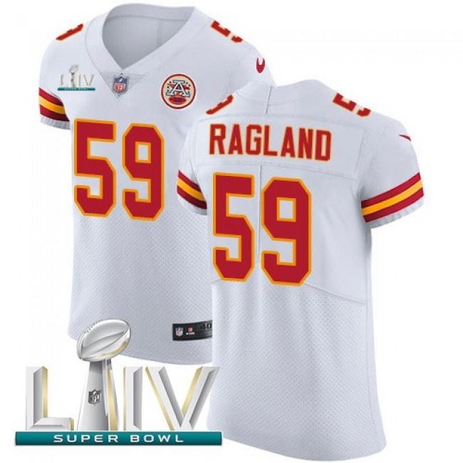 Nike Chiefs #59 Reggie Ragland White Super Bowl LIV 2020 Men's Stitched NFL New Elite Jersey