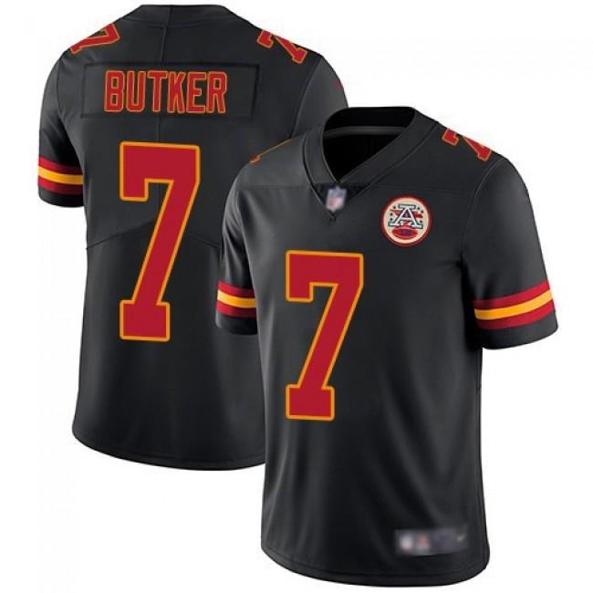Nike Chiefs #7 Harrison Butker Black Men's Stitched NFL Limited Rush Jersey