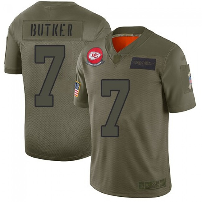 Nike Chiefs #7 Harrison Butker Camo Men's Stitched NFL Limited 2019 Salute To Service Jersey