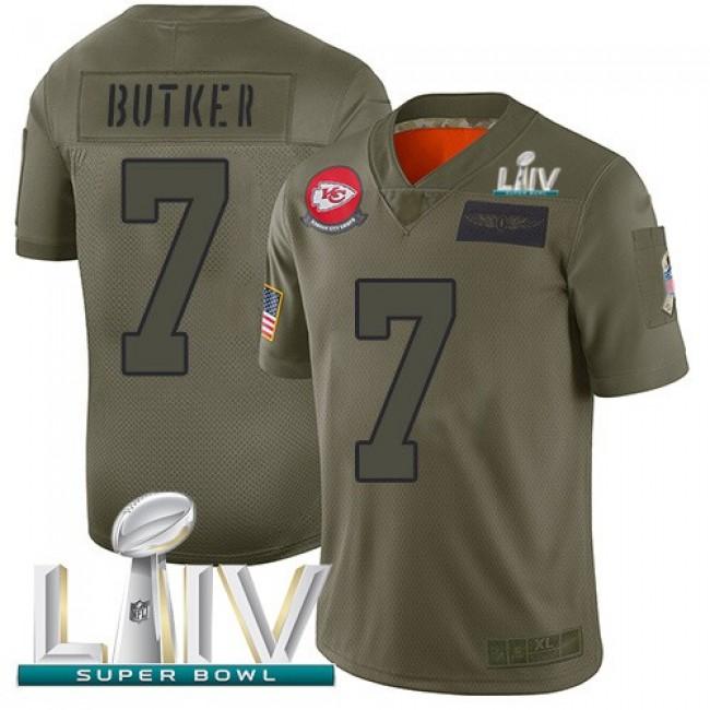 Nike Chiefs #7 Harrison Butker Camo Super Bowl LIV 2020 Men's Stitched NFL Limited 2019 Salute To Service Jersey