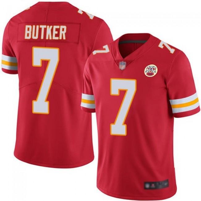 Nike Chiefs #7 Harrison Butker Red Team Color Men's Stitched NFL Vapor Untouchable Limited Jersey