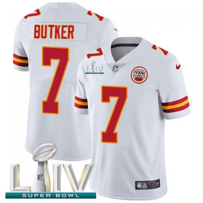 Nike Chiefs #7 Harrison Butker White Super Bowl LIV 2020 Men's Stitched NFL Vapor Untouchable Limited Jersey