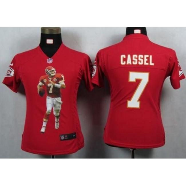 Women's Chiefs #7 Matt Cassel Red Team Color Portrait NFL Game Jersey