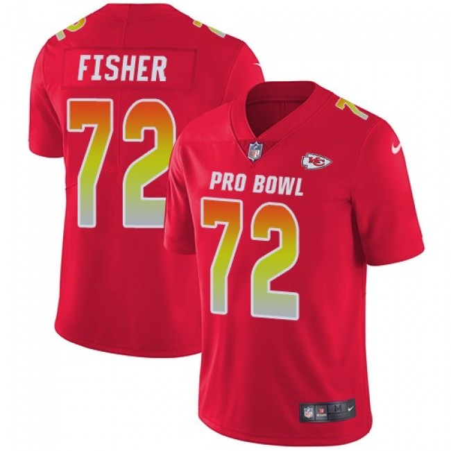 Nike Chiefs #72 Eric Fisher Red Men's Stitched NFL Limited AFC 2019 Pro Bowl Jersey