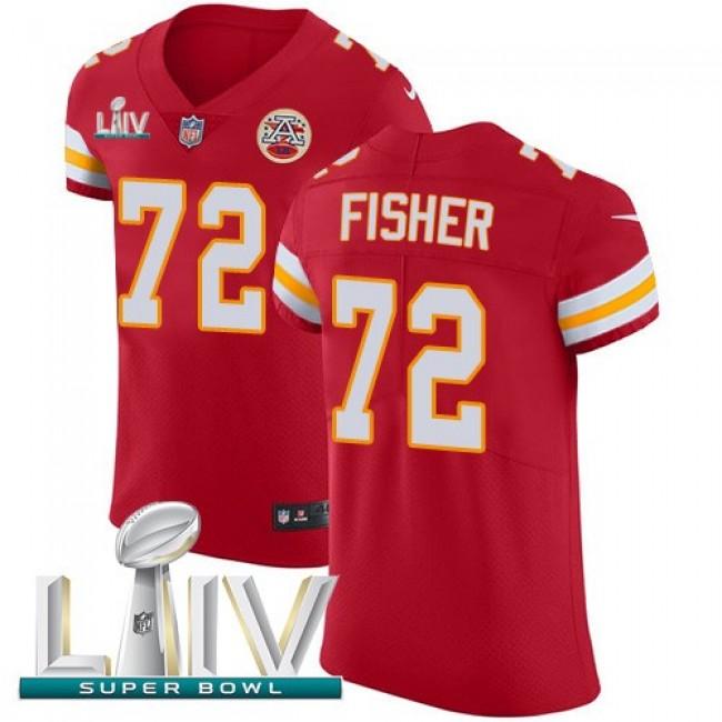 Nike Chiefs #72 Eric Fisher Red Super Bowl LIV 2020 Team Color Men's Stitched NFL Vapor Untouchable Elite Jersey