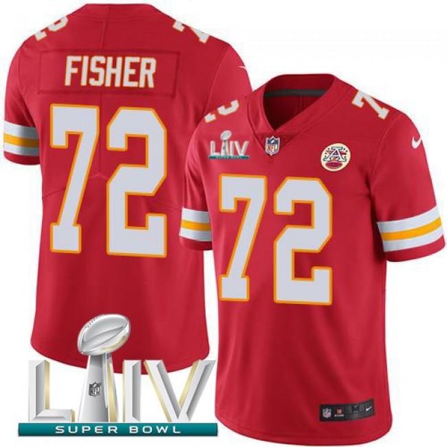 Nike Chiefs #72 Eric Fisher Red Super Bowl LIV 2020 Team Color Men's Stitched NFL Vapor Untouchable Limited Jersey