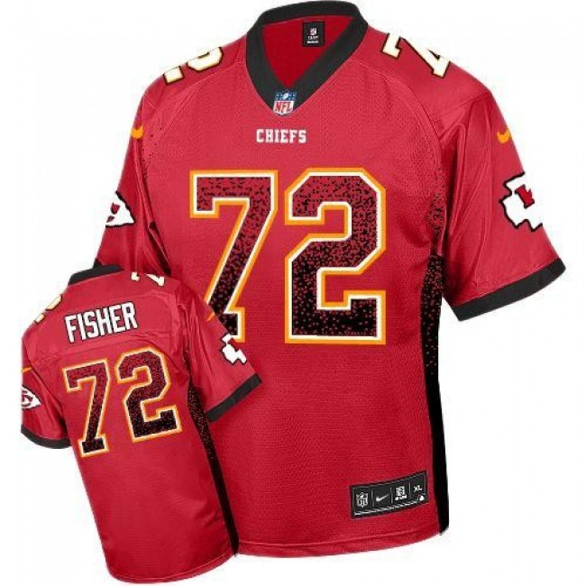 Nike Chiefs #72 Eric Fisher Red Team Color Men's Stitched NFL Elite Drift Fashion Jersey