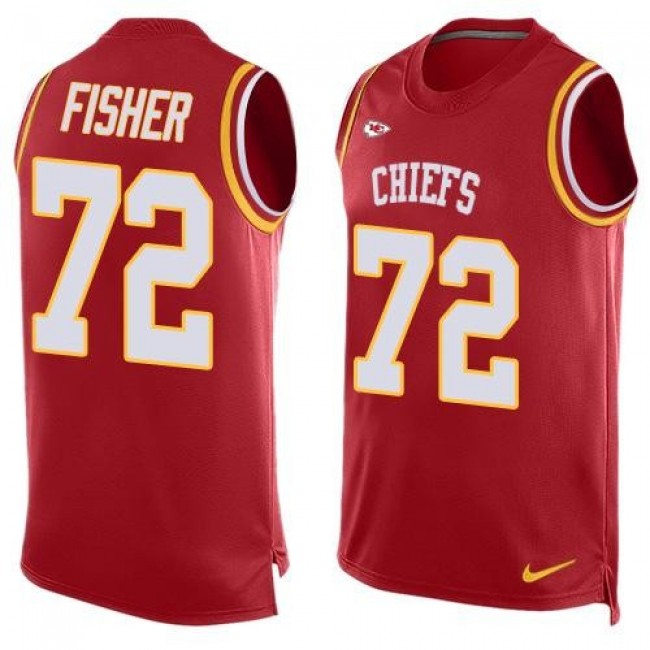 Nike Chiefs #72 Eric Fisher Red Team Color Men's Stitched NFL Limited Tank Top Jersey