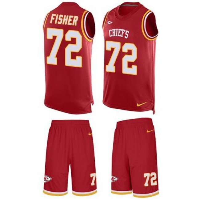 Nike Chiefs #72 Eric Fisher Red Team Color Men's Stitched NFL Limited Tank Top Suit Jersey