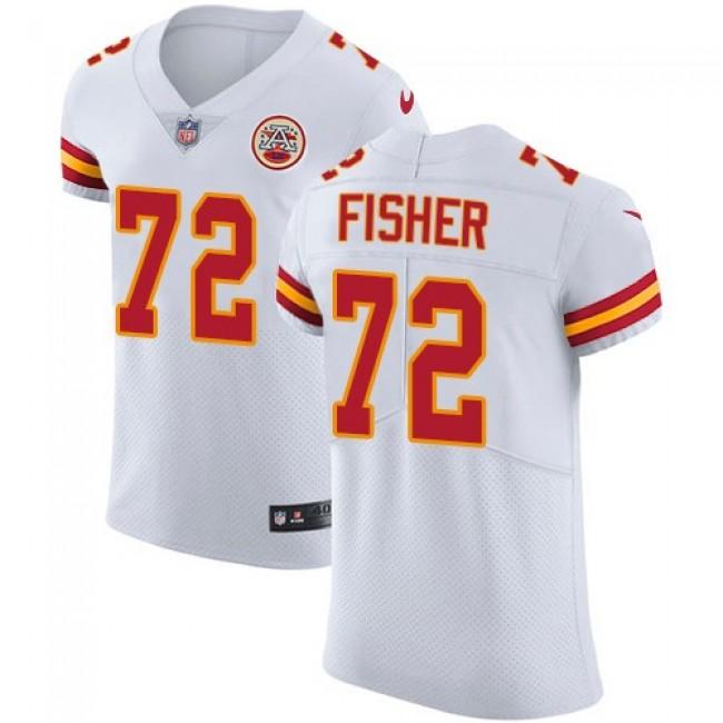 Nike Chiefs #72 Eric Fisher White Men's Stitched NFL Vapor Untouchable Elite Jersey
