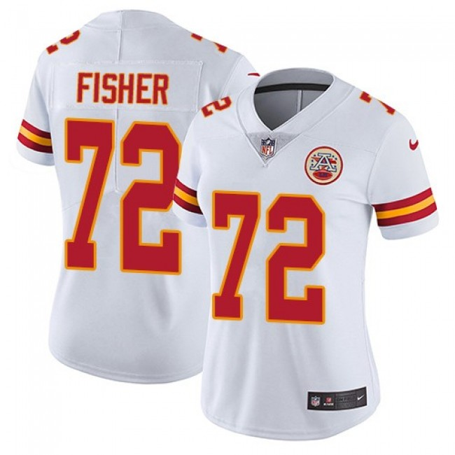 Women's Chiefs #72 Eric Fisher White Stitched NFL Vapor Untouchable Limited Jersey