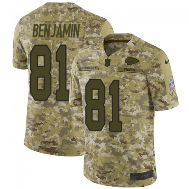 Nike Chiefs #81 Kelvin Benjamin Camo Men's Stitched NFL Limited 2018 Salute To Service Jersey