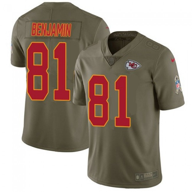 Nike Chiefs #81 Kelvin Benjamin Olive Men's Stitched NFL Limited 2017 Salute to Service Jersey