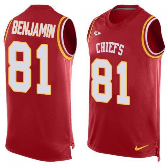 Nike Chiefs #81 Kelvin Benjamin Red Team Color Men's Stitched NFL Limited Tank Top Jersey
