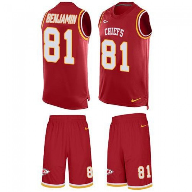 Nike Chiefs #81 Kelvin Benjamin Red Team Color Men's Stitched NFL Limited Tank Top Suit Jersey