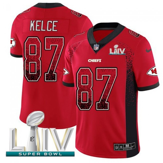 Nike Chiefs #87 Travis Kelce Red Super Bowl LIV 2020 Team Color Men's Stitched NFL Limited Rush Drift Fashion Jersey