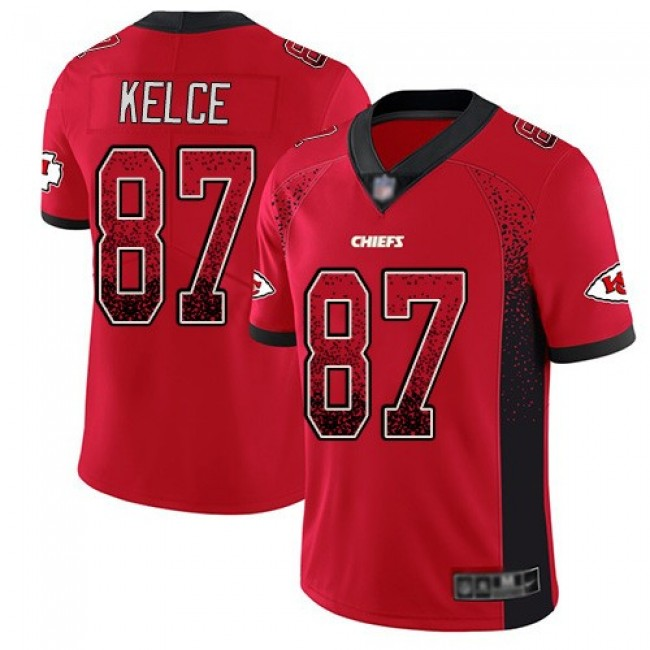 Nike Chiefs #87 Travis Kelce Red Team Color Men's Stitched NFL Limited Rush Drift Fashion Jersey
