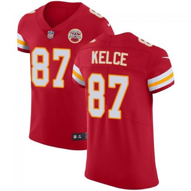 Nike Chiefs #87 Travis Kelce Red Team Color Men's Stitched NFL Vapor Untouchable Elite Jersey