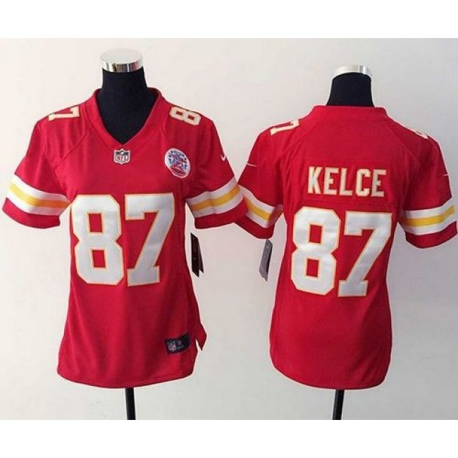Women's Chiefs #87 Travis Kelce Red Team Color Stitched NFL Elite Jersey