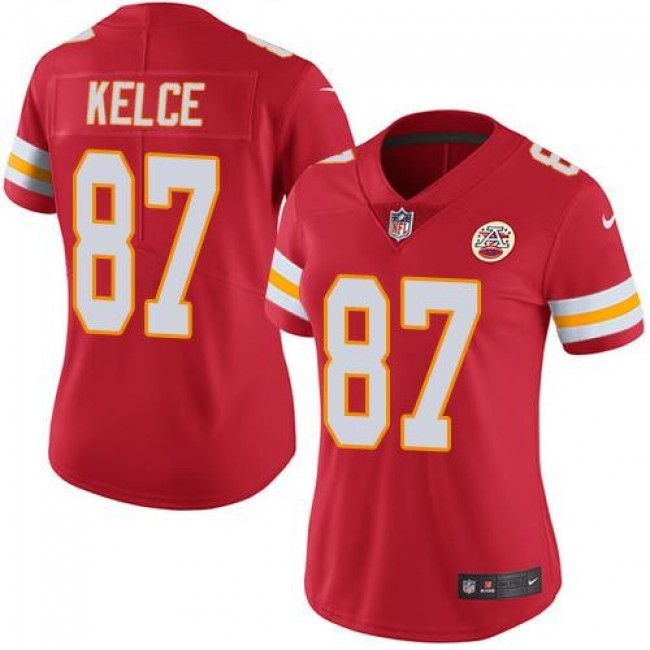 Women's Chiefs #87 Travis Kelce Red Team Color Stitched NFL Vapor Untouchable Limited Jersey