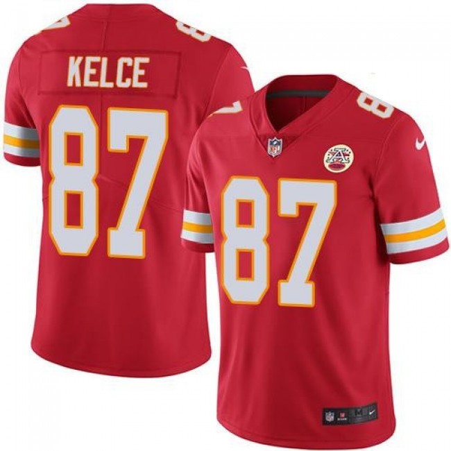 Kansas City Chiefs #87 Travis Kelce Red Team Color Youth Stitched NFL Vapor Untouchable Limited Jersey