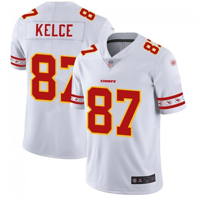 Nike Chiefs #87 Travis Kelce White Men's Stitched NFL Limited Team Logo Fashion Jersey