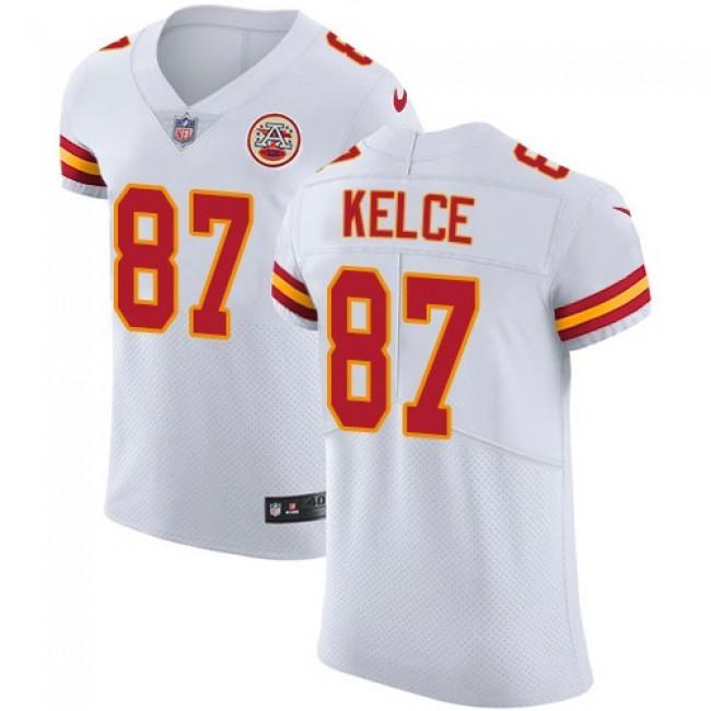 Nike Chiefs #87 Travis Kelce White Men's Stitched NFL Vapor Untouchable Elite Jersey
