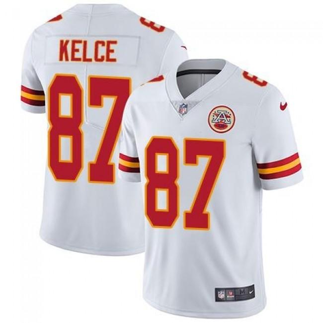 Nike Chiefs #87 Travis Kelce White Men's Stitched NFL Vapor Untouchable Limited Jersey