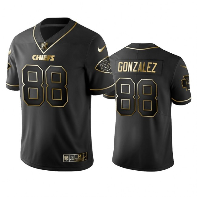 Nike Chiefs #88 Tony Gonzalez Black Golden Limited Edition Stitched NFL Jersey